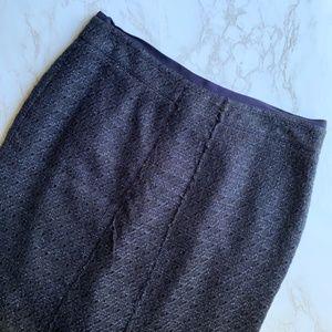 Tory Burch Navy Blue Wool Pencil Skirt